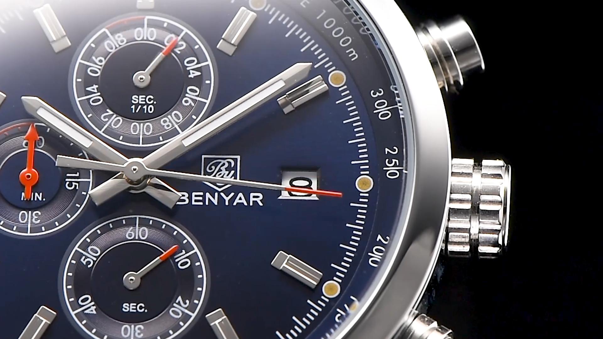Top Marke BENYAR Herren Uhren 2020 Neue Luxus Quarzuhr Männer Sport Military Armbanduhr Männer Chronograph Relogio Masculino 5102