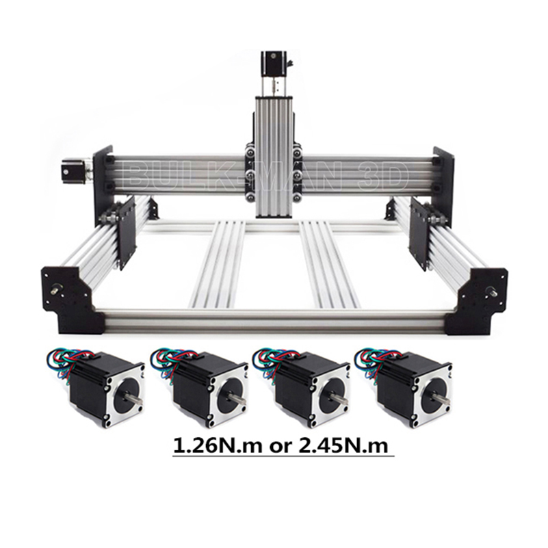 Workbee CNC Router Machine Kit 4 Axis Woodworking Metal Engraver Milling Machine Nema23 stepper motor CNC with small budget