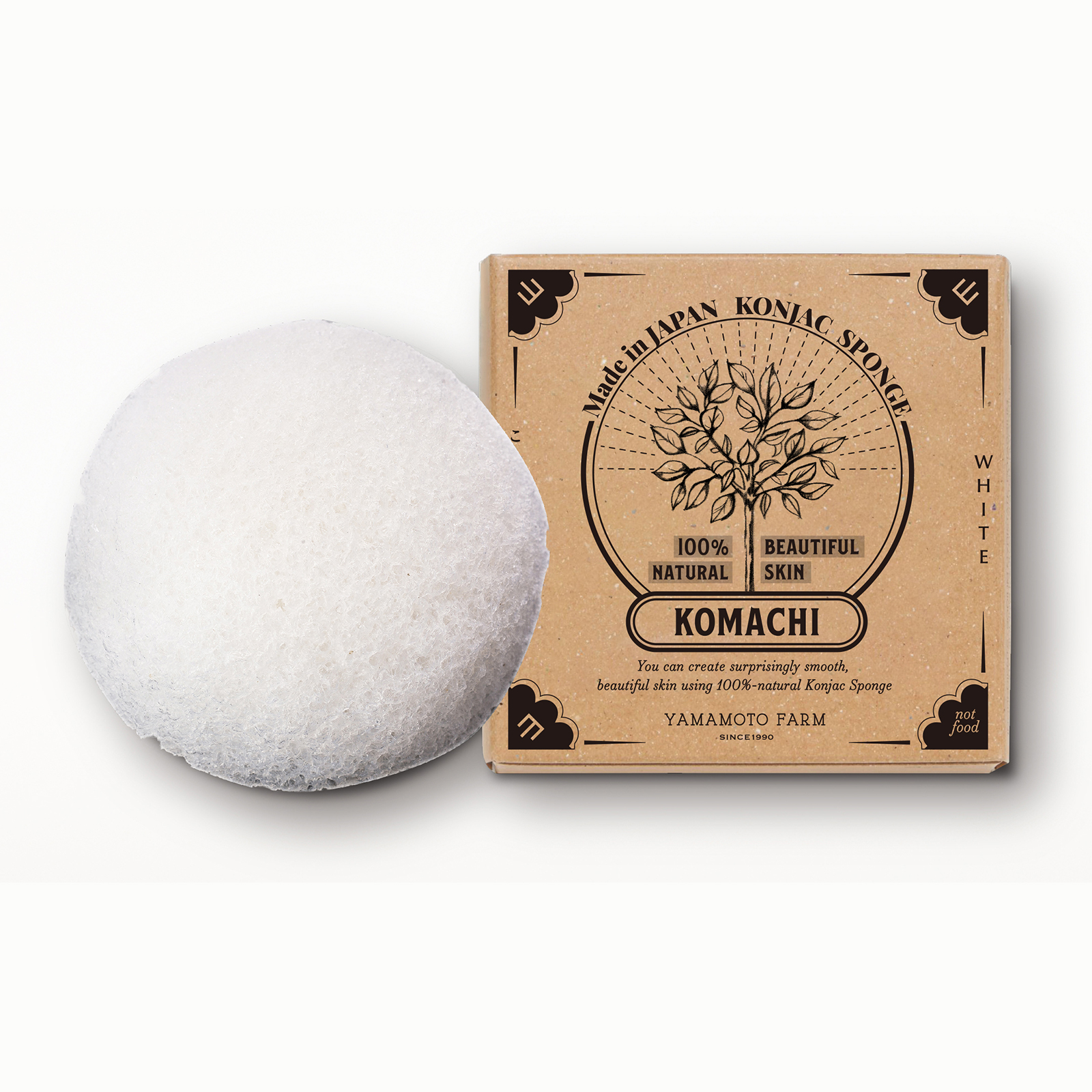 Japanese absorbent konjac sponge organic sea sponge natural in stock