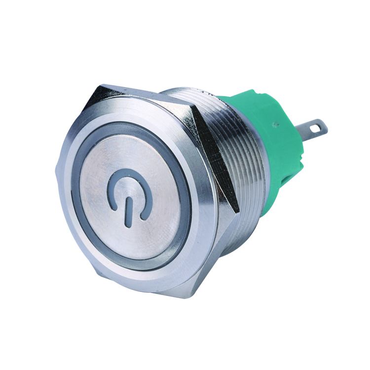 Interruttore a pulsante per auto 12mm 12V metallo impermeabile LED Interruttore a pulsante autobloccante a pulsante 1NO1NC Red