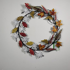 Leaves wreath metal iron wall decor pieces interior home decoration