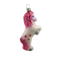 Stock popular style design hanging glass unicorn home ornament decoration
