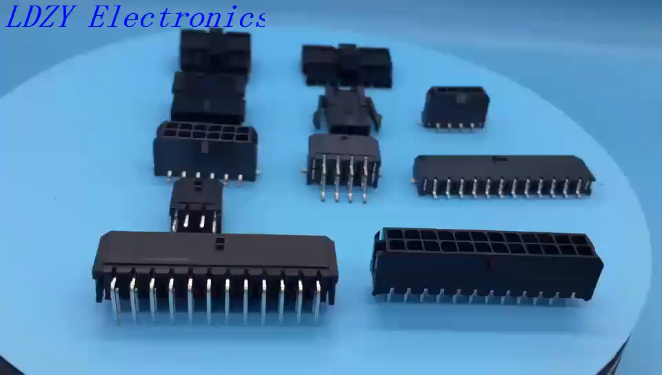 Molex 436500200 micro fit 3.0mm pitch equivalent 2 pins Through hole PCB connector with peg lock C3030WVF LDZY made