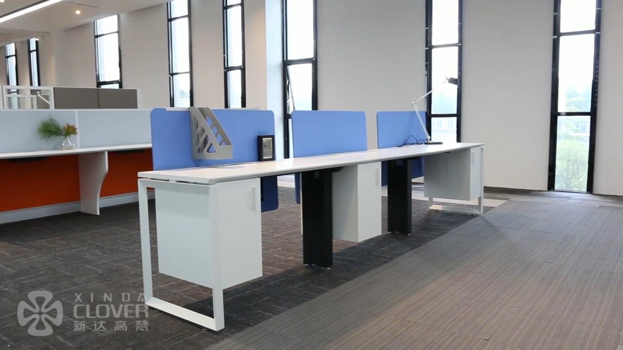 SLD estilo moderno Extra grande superficie de trabajo dos persona estación de trabajo de la Mesa de la computadora de escritorio con Pedestal de la Oficina para el hogar uso
