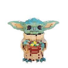Legoins строительный блок серии «Звездные войны», креативный moc-38952 для малышей, йода-маленькая частица, собранная игрушка, подарок на день рожд...(Китай)