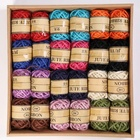 24PCS Sisal Twine 3mm 3ply Colorful Jute Twine Rope Jute Cord String for Crafts/DIY Artworks/Gift Box Vase Wrapping Twine