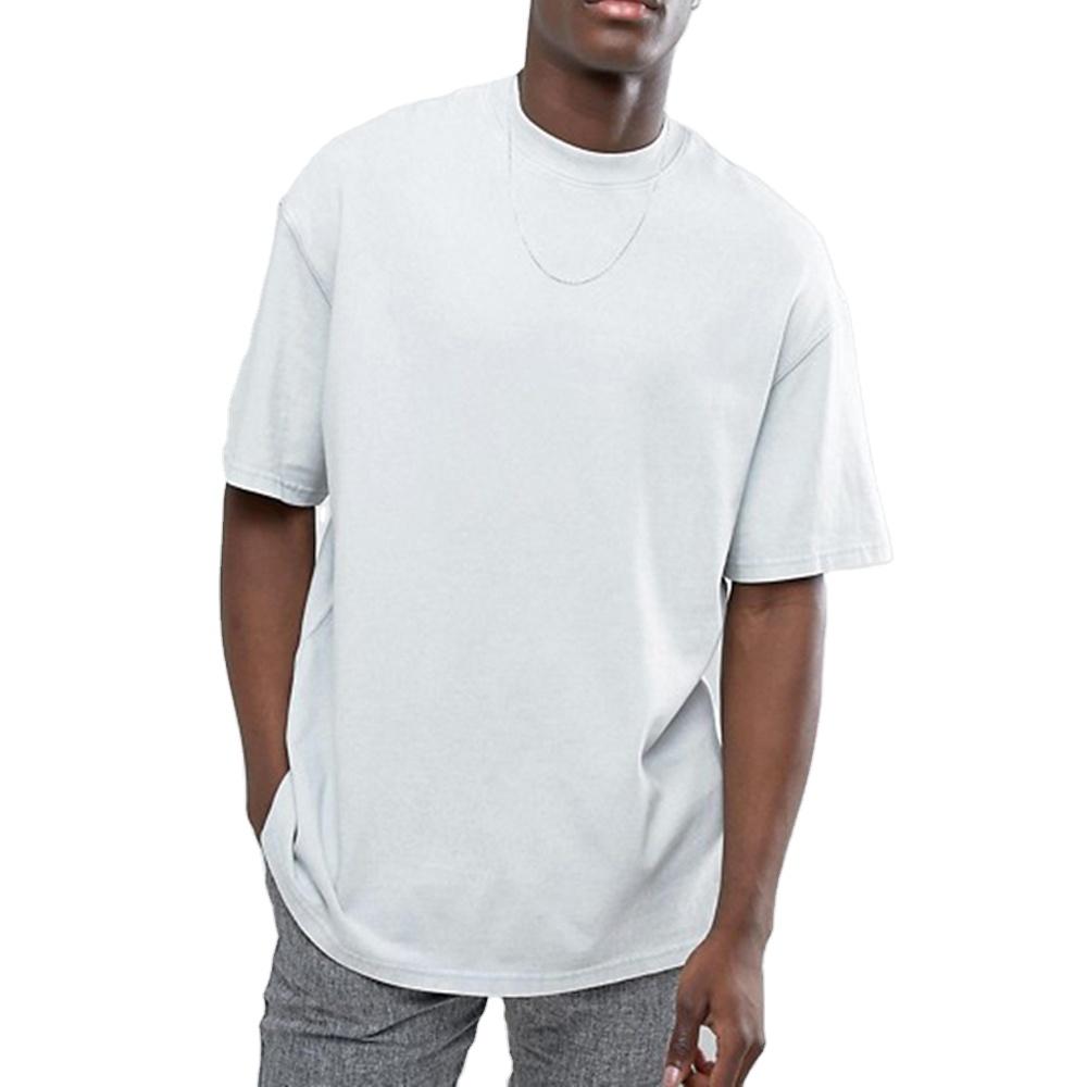 High Quality 220g Heavier Cotton White Oversized Tshirt Wholesale Custom Blank Mens Tshirt