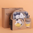 Wholesale food dinner set bamboo fiber dinner set for baby