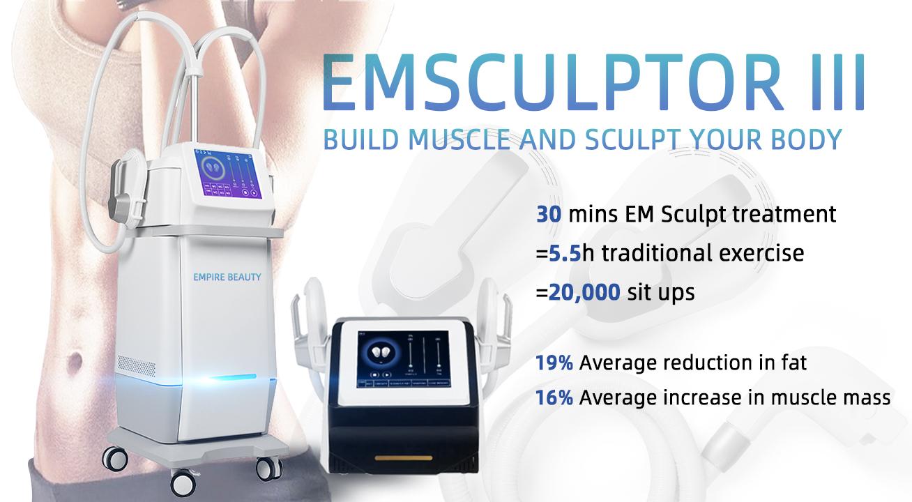 Safe Application Portable Emsculpting System Muscle Build Body Shape Machine Hiemt