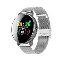 LIGE новые светодиодные цветные Смарт-часы, водонепроницаемые спортивные часы для iPhone, пульсометр, кровяное давление, информация о вызове, ум...(China)
