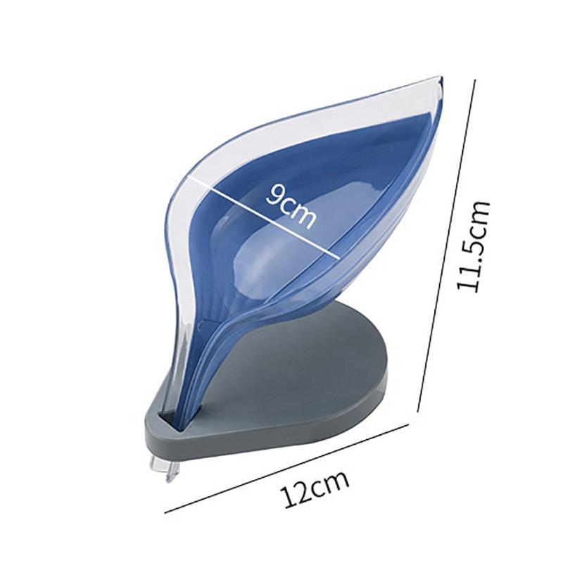 Kotak Sabun Plastik Sederhana Bentuk Daun Tempat Penyimpanan Piring Pemegang Baki