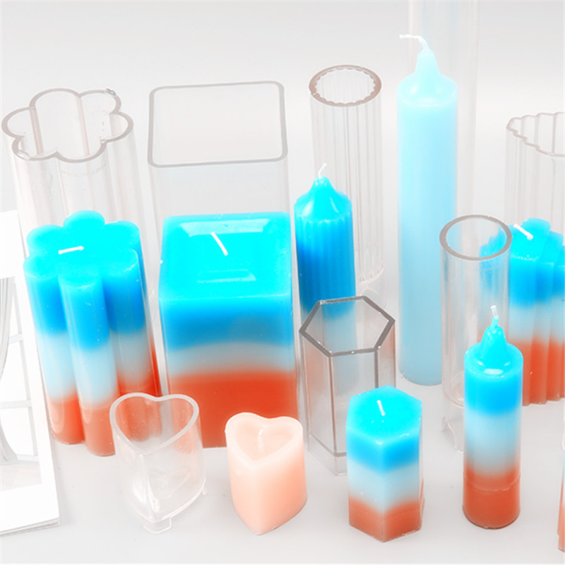 Rubber Plastic Silicone Craft Candle Making <strong>Molds</strong> Handmade Candle Mould