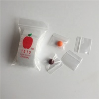 Small Plastic Bags 100count 1510 Clear Apple Mini Ziplock Baggie