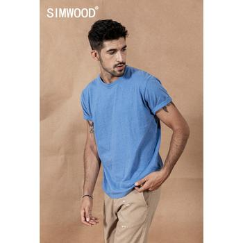 SIMWOOD 2019 men t shirt 100% cotton wholesale online shopping brand clothing