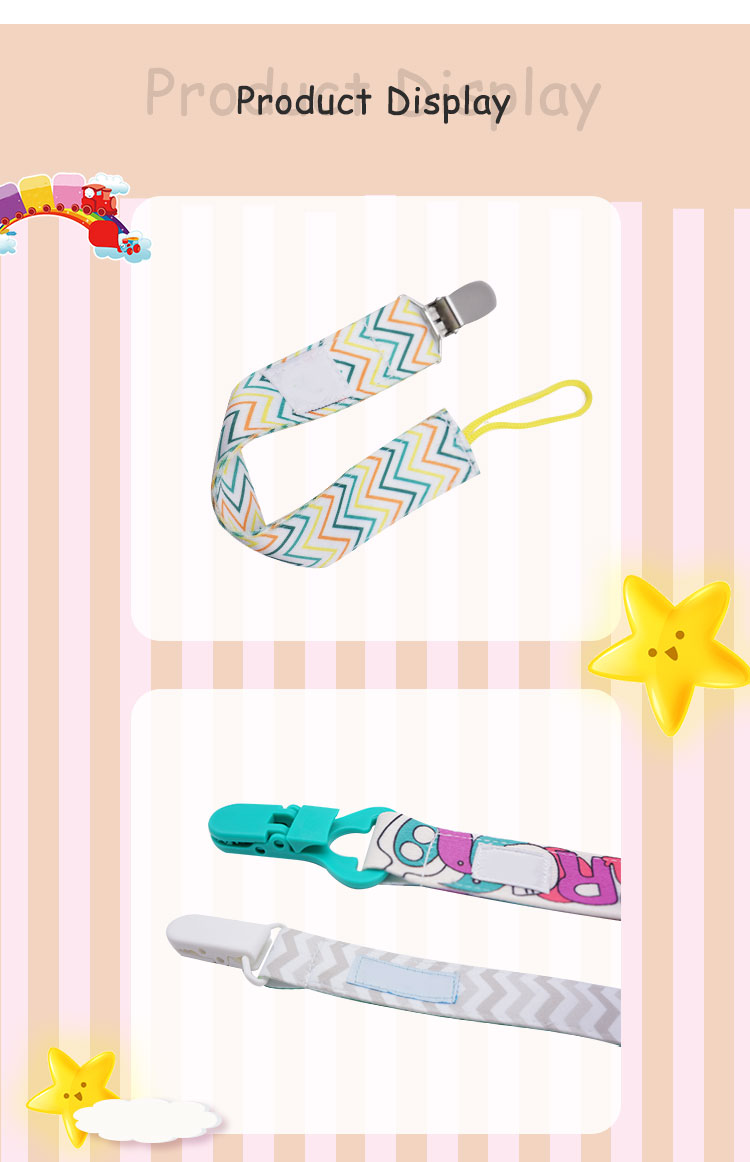 Thermal transfer metal silicone pacifier clip holder bear plain pacifier clip custom