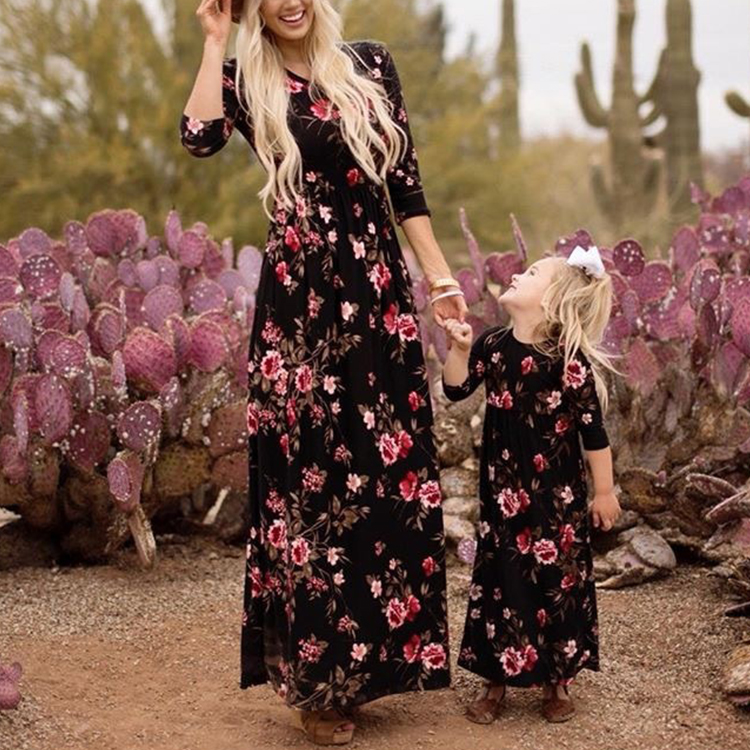 Mother Daughter Clothing Parent Child Dresses Mom Daughter Matching Dresses Dress for Mother and Daughter
