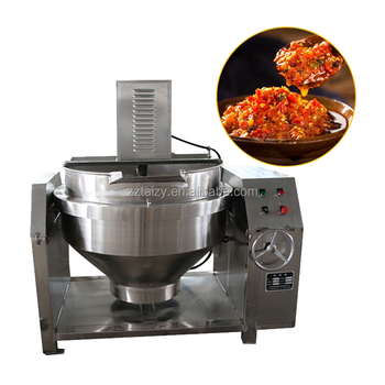 Factory direct sale steam jacketed kettle tilting vertical industrial jacketed cooking kettle with with agitator for jam