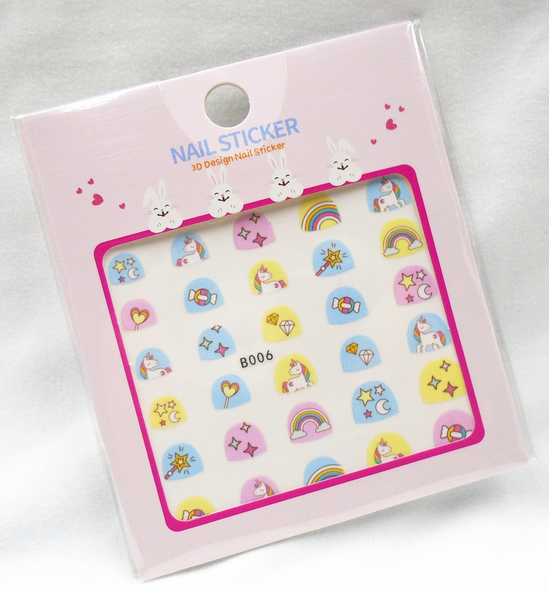 B001-040 3D cartoon kids wholesales <strong>nail</strong> <strong>sticker</strong> for children