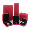 Custom Printed Velvet Materials Square Foam Inserts Engagement Wedding Packaging Gift Velvet Paper Jewelry Box