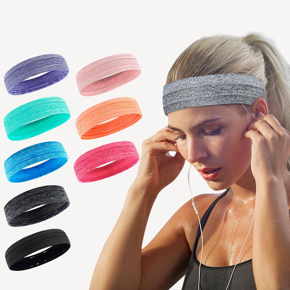 Fonctionnement évacuant L'humidité bandeau absorbant la sueur ceinture anti-dérapage anti-sueur bandeau yoga bandeau tennis sport bandeau