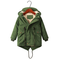 2019 Kids Clothes Solid Color Fall Winter Keep Warm Jacket Baby Girl Boy Coat