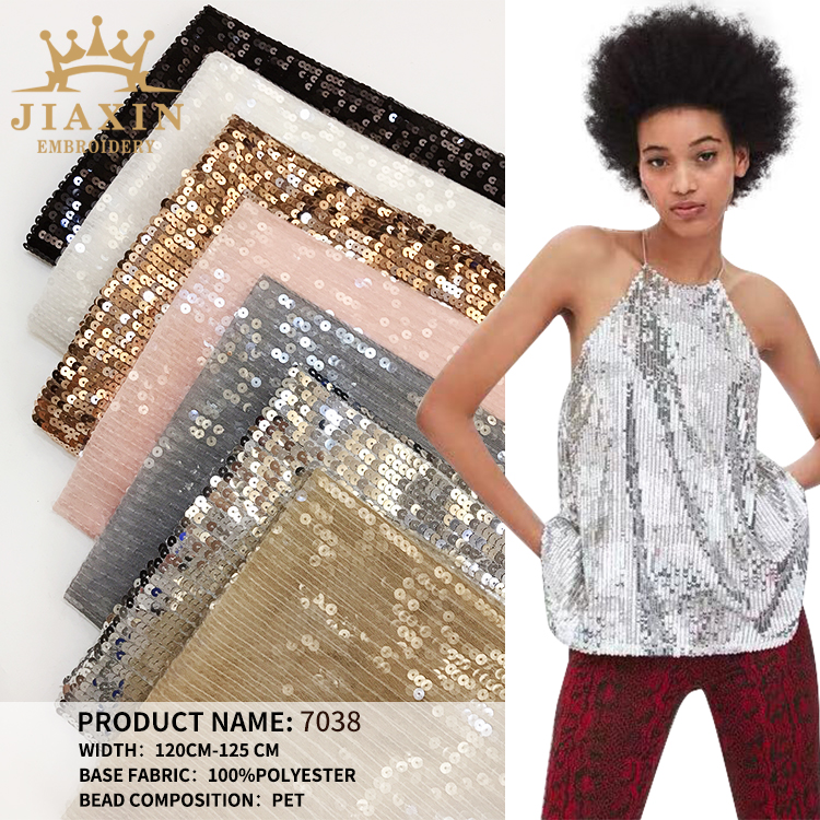 Factory direct sales of fashion sequined fabrics, dresses for stage costumes, customizable