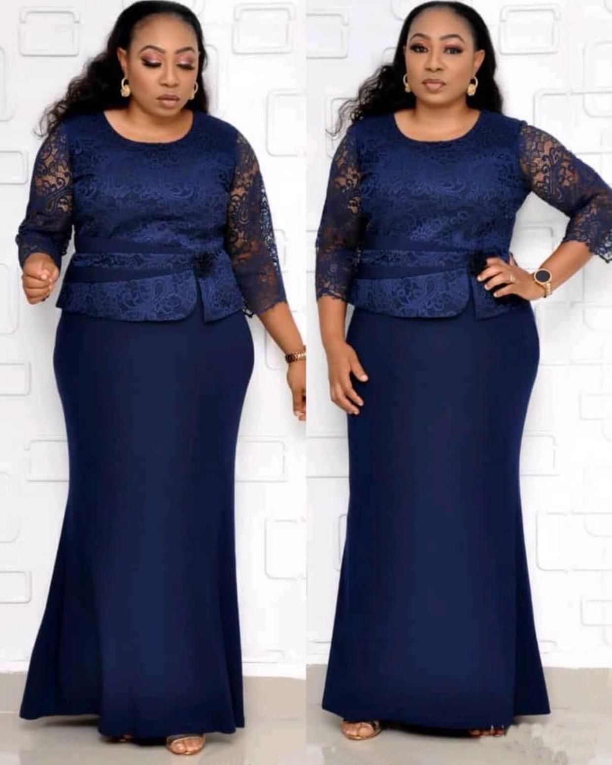 Direct sale african women's dress oversize simple pattern coat two-piece casual big fat suit plus size dresses KC-AM395