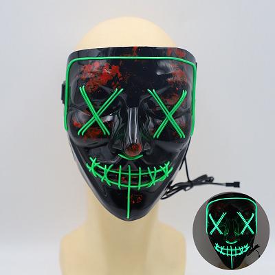 2020 गर्म बिक्री पार्टी favorsled प्रकाश अप ईएल तार मुखौटा हेलोवीन cosplay के लिए मुखौटा
