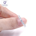 Yadis Wholesale 925 Silver Jewelry Cubic Zirconia With 18k White Gold Rings