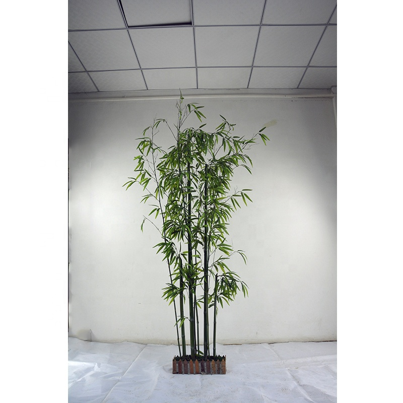 Venta al por mayor de 240CM de altura interior decorativo artificial árbol de bambú plantas artificiales