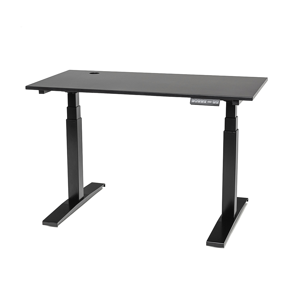 Modern Office Furniture painting dual motors 3-stage electric lift sit stand desk height adjustable table frame
