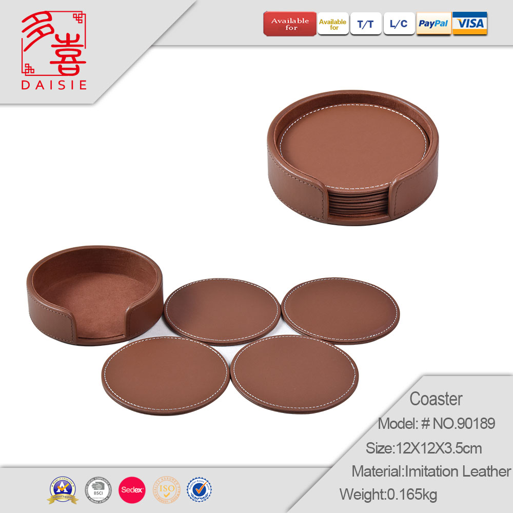 Guangdong Factory price for bar for restaurant leather coaster