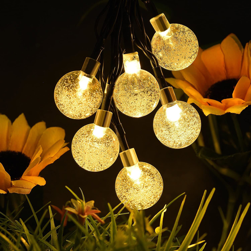Outdoor waterproof IP65 Led solar string light for decoration