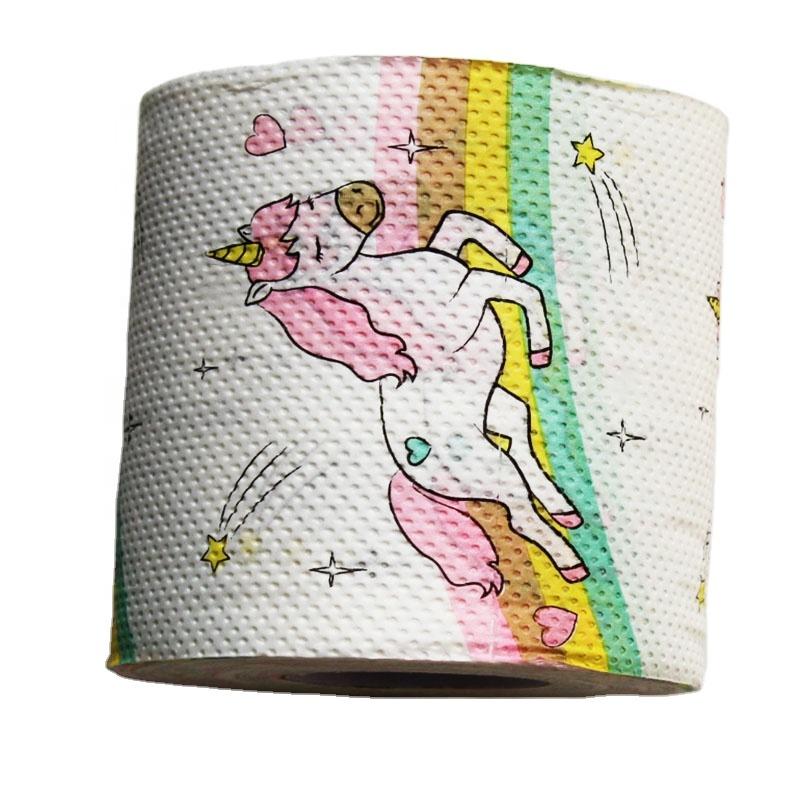 Made In China Zachte Goedkope Roze Eenhoorns Decoratie Afdrukken Toiletpapier