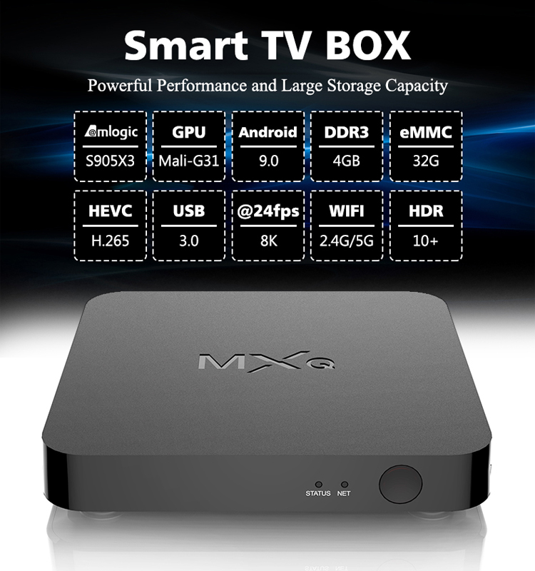 G10CX3 amlogic S905X3 android 9.0 2G 16G CPU 4K HD android TV BOX