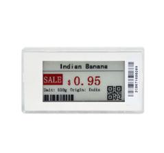 EASTSUN 2.9 inch 3 रंग ई-स्याही ई-पेपर इलेक्ट्रॉनिक शेल्फ लेबल अलग अलग रंग के साथ फ्रेम