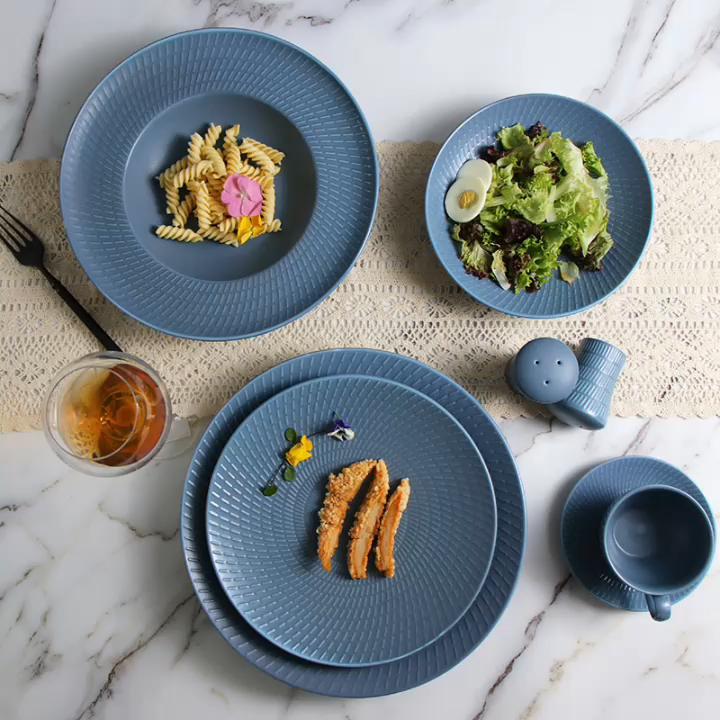 Spanish Grey Color Porcelain tableware Ceramic Tableware for Banquet