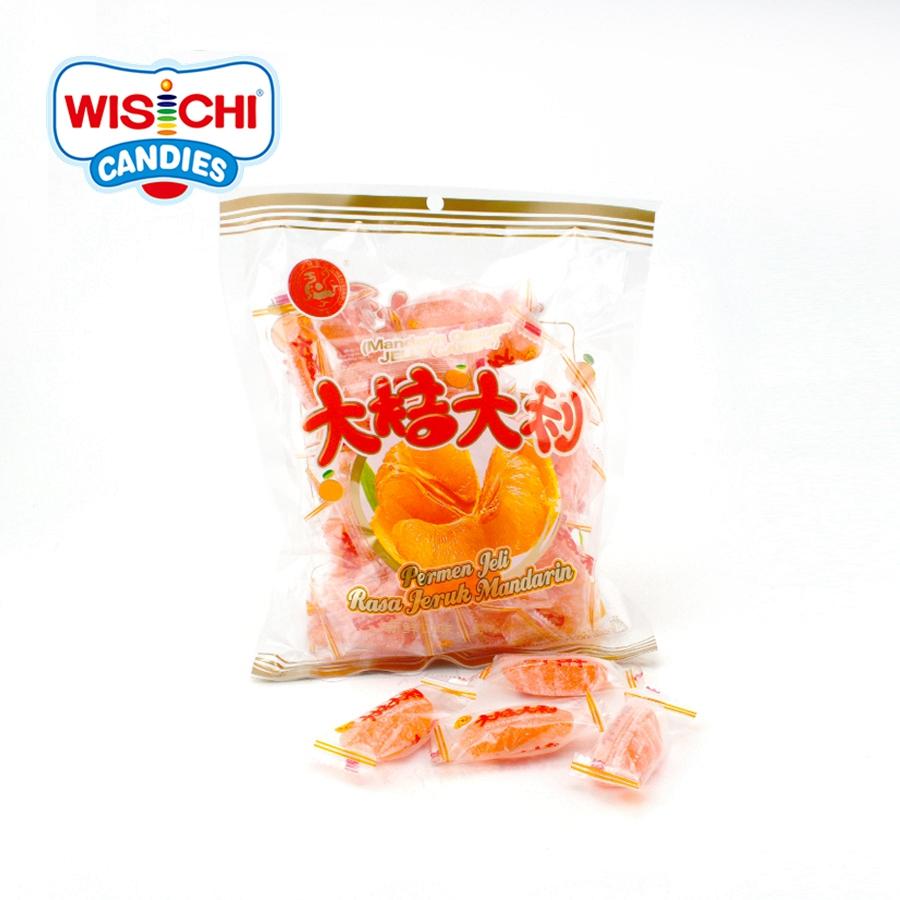 Free sample fruit flavor orange gummy candy custom soft candy halal vegan gummies