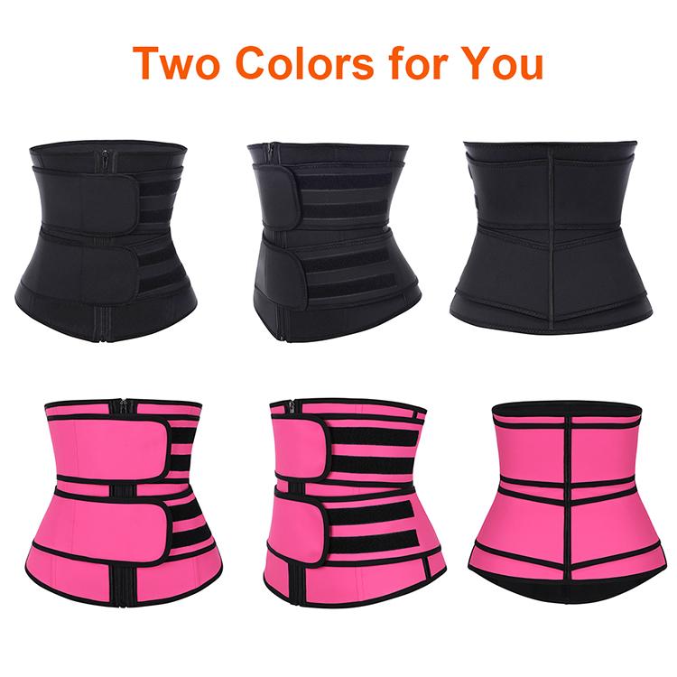 Nova Listagem de Compressão Dupla Cinta Cintura Látex Trainer Treino Das Mulheres Shapewear Cintura Trimmer Belt Com Logotipo Personalizado