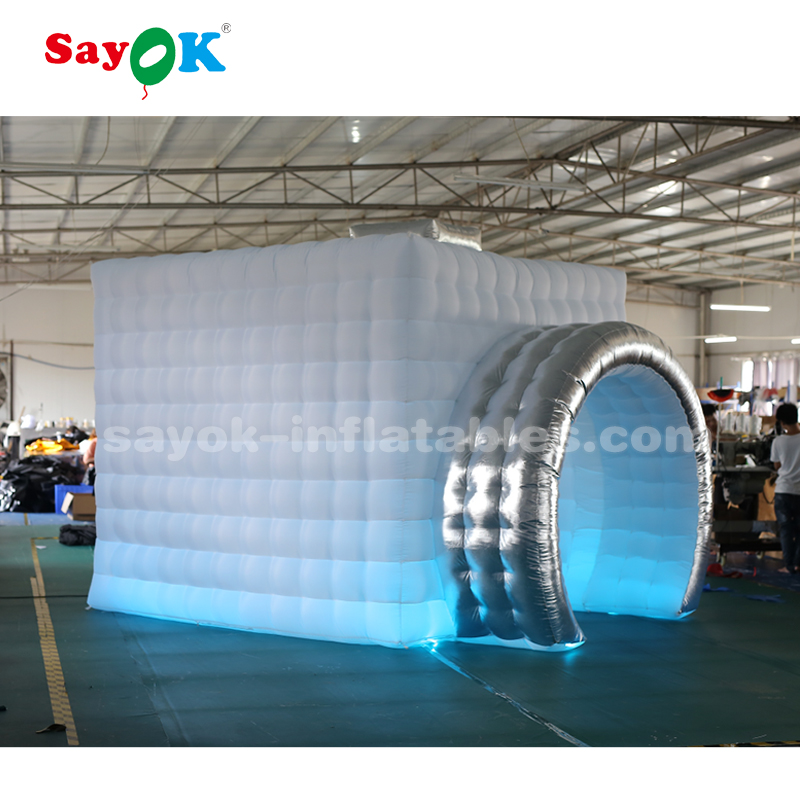 camera shape inflatable photo booth tent with led lighting