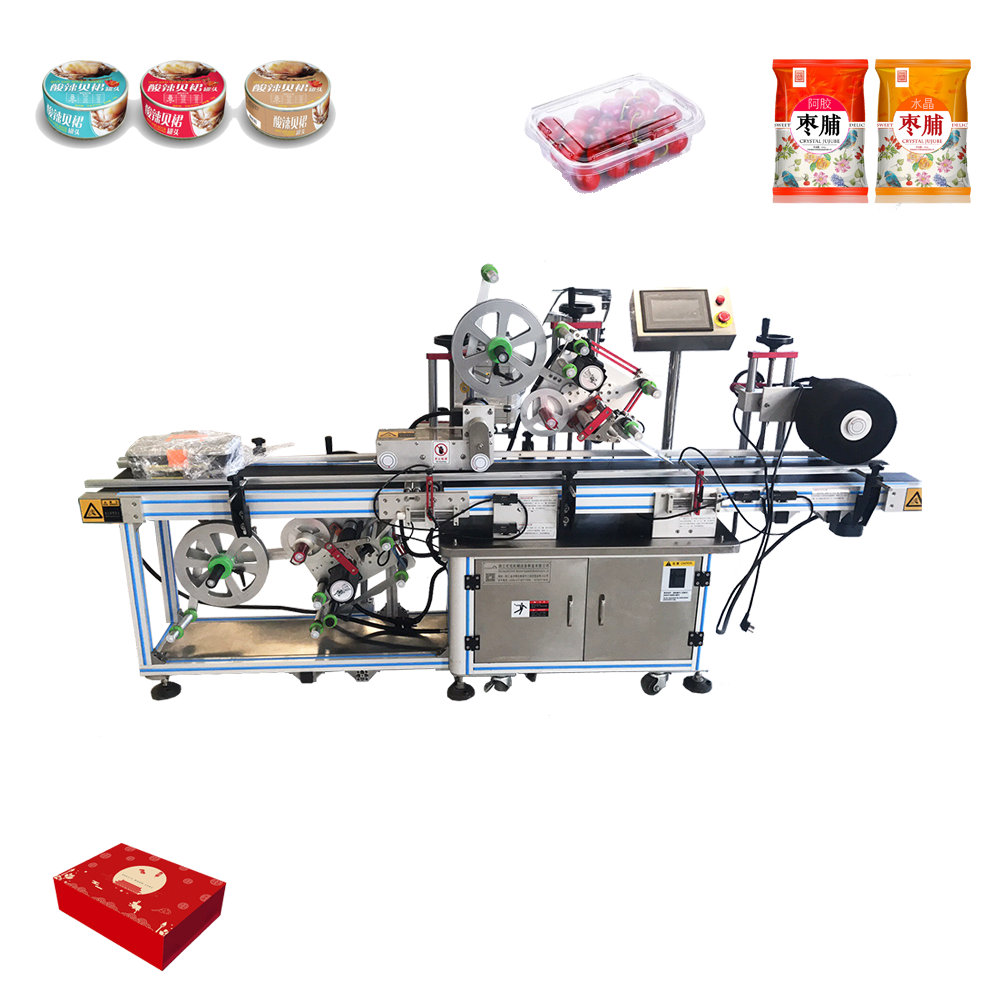 BD450 automatische top en side pvc label dispenser machine