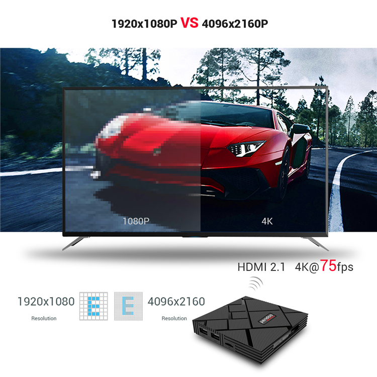 Factory Amlogic S905X2 Quad Core 4K 4GB 32GB Android 9.0 Pendoo X10 Max Support 4k set top smart TV box support voice control