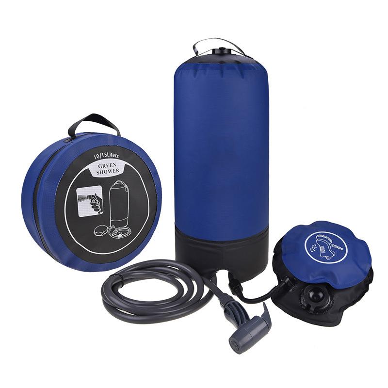Oemポータブル屋外キャンプ圧力シャワーバスバッグフットポンプ付きビーチスイムトラベルハイキング