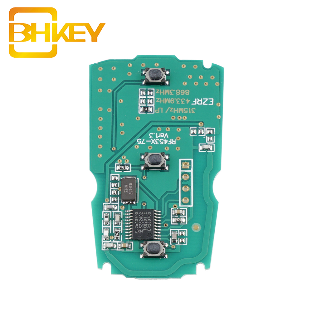 3 Buttons CAS3 868Mhz PCF7945 Chip Smart Key KR55WK49127 Remote Key For BMW X5 X6 E46 E60 E63 E65 X6 E83 E85 E90 E92 Car Key
