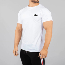 Große Weiche Training männer Tops Fitting Workout Gym Weiß T Shirts