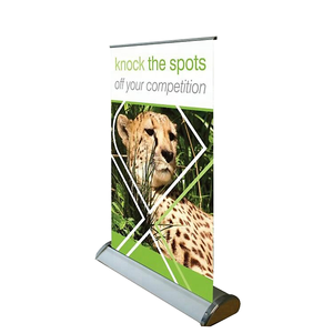China supplier mini desktop roll up retractable banner A4 A3 display stand