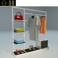 New metal hanging clothes display racks for shop