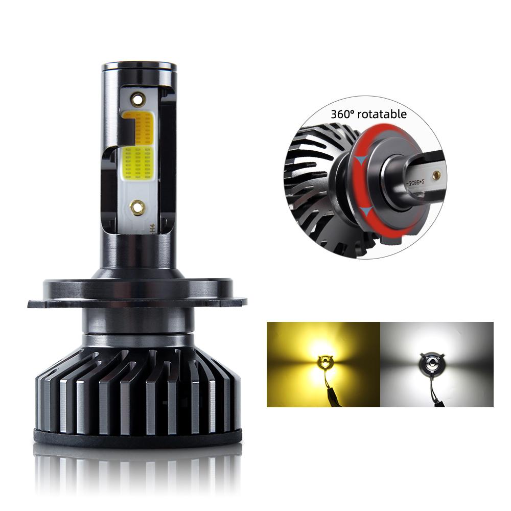 2020 Best Quality High Power 6500K 3500k yellow 20000LM Car LED Headlight,Led f2 h4 h7 LED Headlight Bulbs
