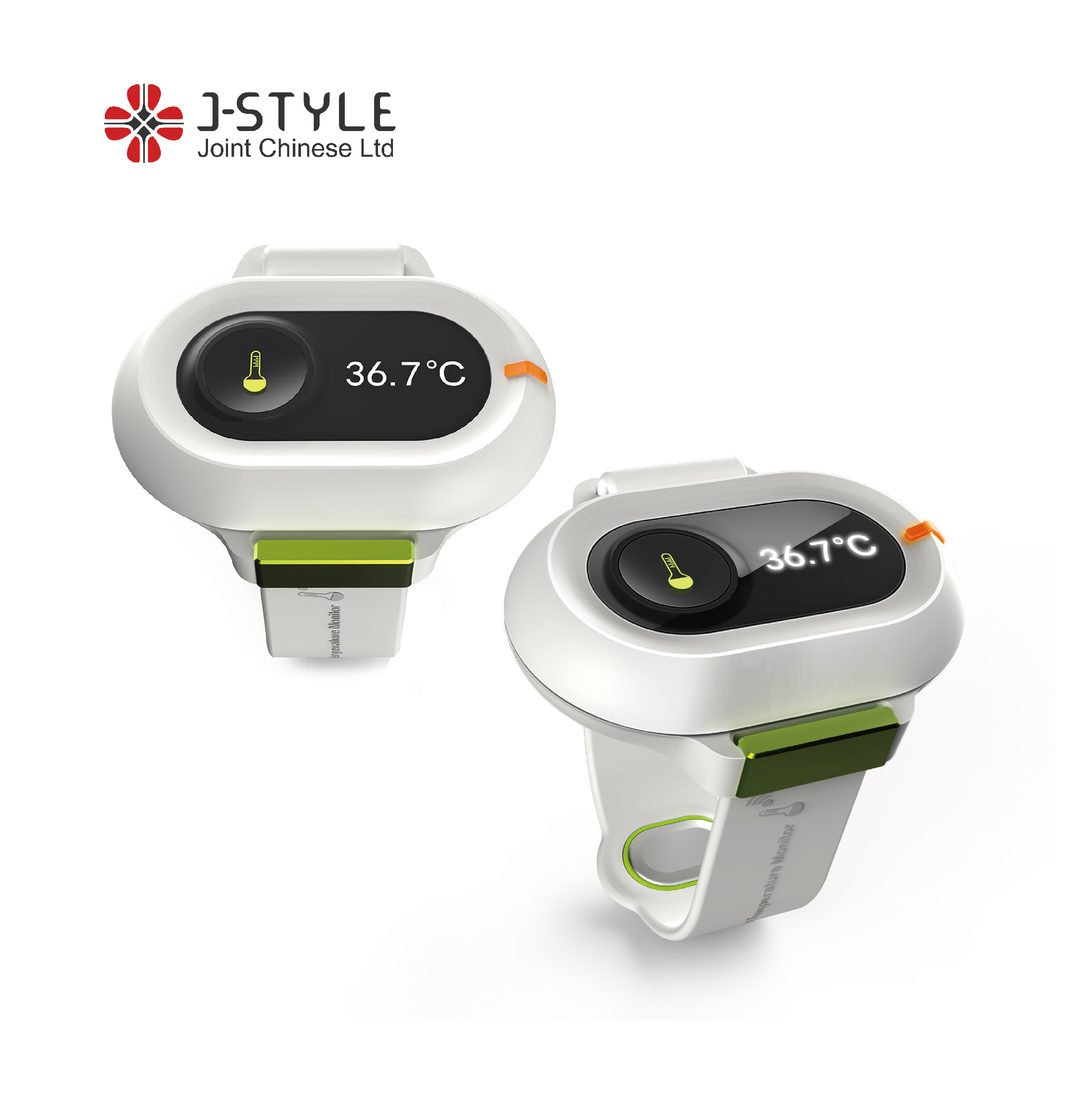 J-Style B004 Bluetooth Smart Digital Baby Thermometer Wrist <strong>Temperature</strong> Monitor Smart Bracelet Color OEM Support