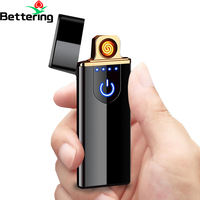 fingerprint finger induction touch car key keychain usb charged electronic heating coil cigarette lighter smoking accessories